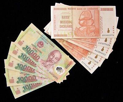 10 Banknotes 5 X Vietnam 000 Dong