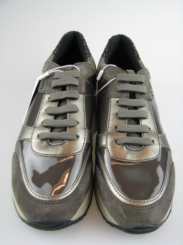 Geox Damen Sneakers D AIRELL C Taupe Leder in Gr.37