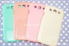 Samsung Galaxy s3 4pc Pastel Cute Candy Color Case Blank Hard Plastic DIY LOT