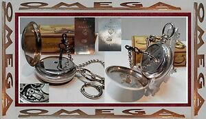 e95f12d7050 Raro E Antigo Relógio De Bolso Suíço OMEGA 1895 Chave Vento Prata ...
