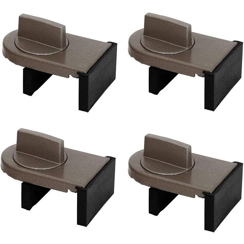 4 Pcs Sliding Sash Stopper Cabinet Locks Straps Window Sliding Lock Doors S X4P3