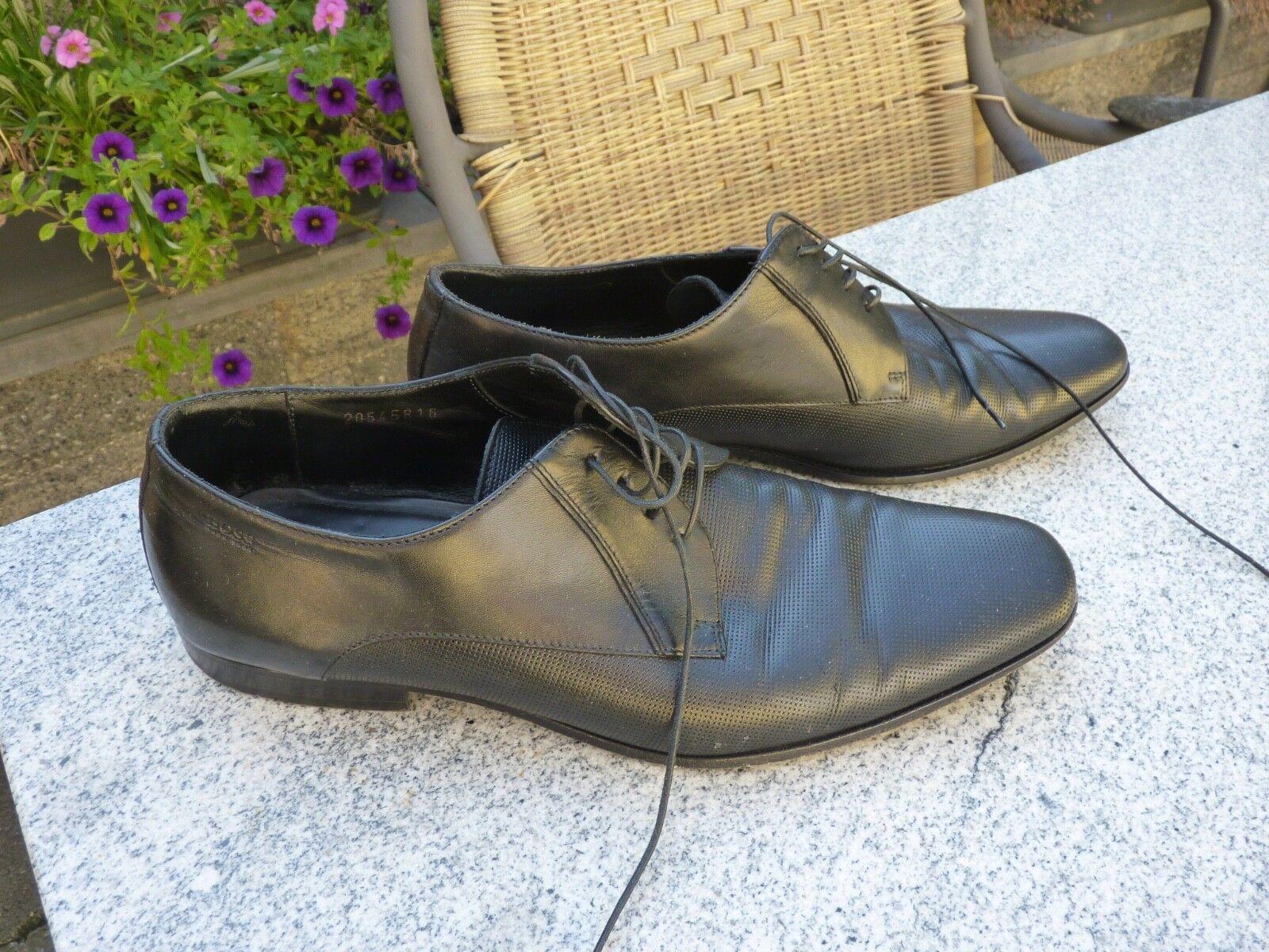 Hugo Boss Business Schuhe Anzugschuhe schwarz Gr. 7