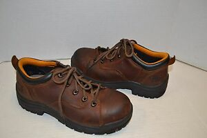 e45a1718726 Timberland PRO Titan Oxford 63189 Womens Brown Safety Toe WORK Shoes ...