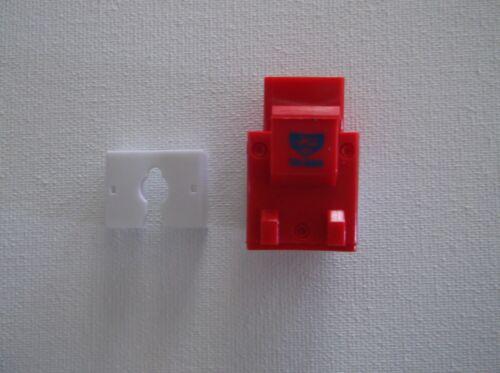 25 Pack Lot RED CAT5e RJ45 110 Punch Down Keystone Modular Snap-In Jacks