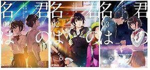 Su-Nombre-Kimi-No-Na-Wa-Manga-3-Juego-Shinkai-Makoto-Kotone-Ranmaru-Japones
