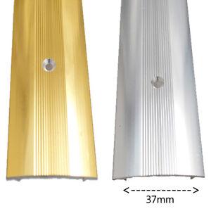 Tappeto-STRISCIA-di-copertura-in-vinile-porta-in-metallo-Bar-soglia-Trim-ottone-e-argento