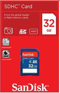 SanDisk 32gb SD Card SDHC HD Memory Card Class 4 32 GB for Digital Cameras Video 619659058500
