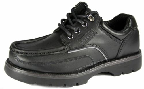 Macadam Keane Kids Black Lace up  Formal Shoes School Leather