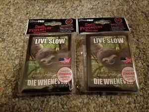 WoW-MTG-Pokemon-SLOTH-Live-Slow-Die-Whenever-Card-Sleeves-100-2-Packs-L-K