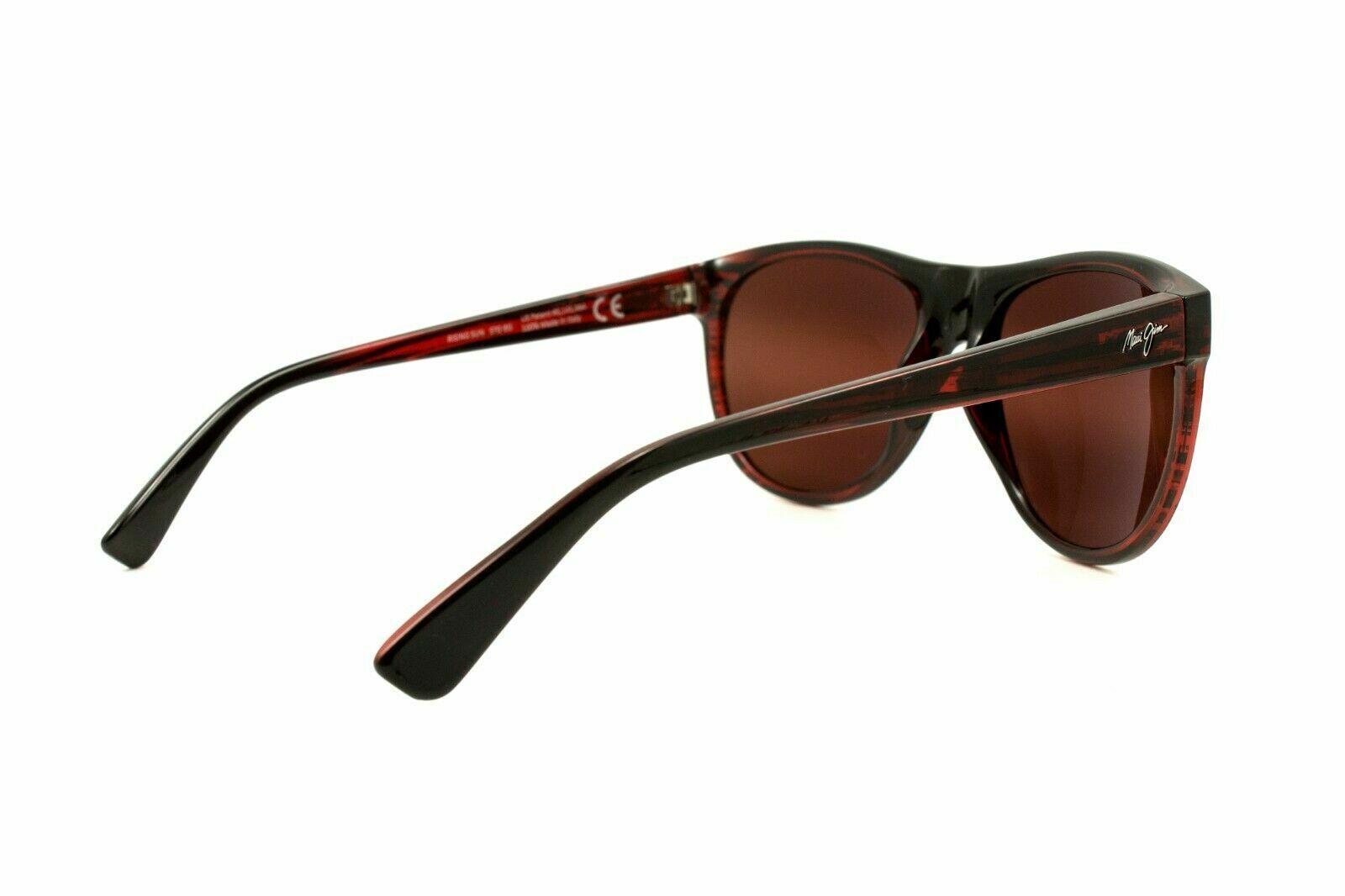 Maui Jim RISING SUN R731-07C Burgundy Sunglasses Polarized Maui Rose Lenses