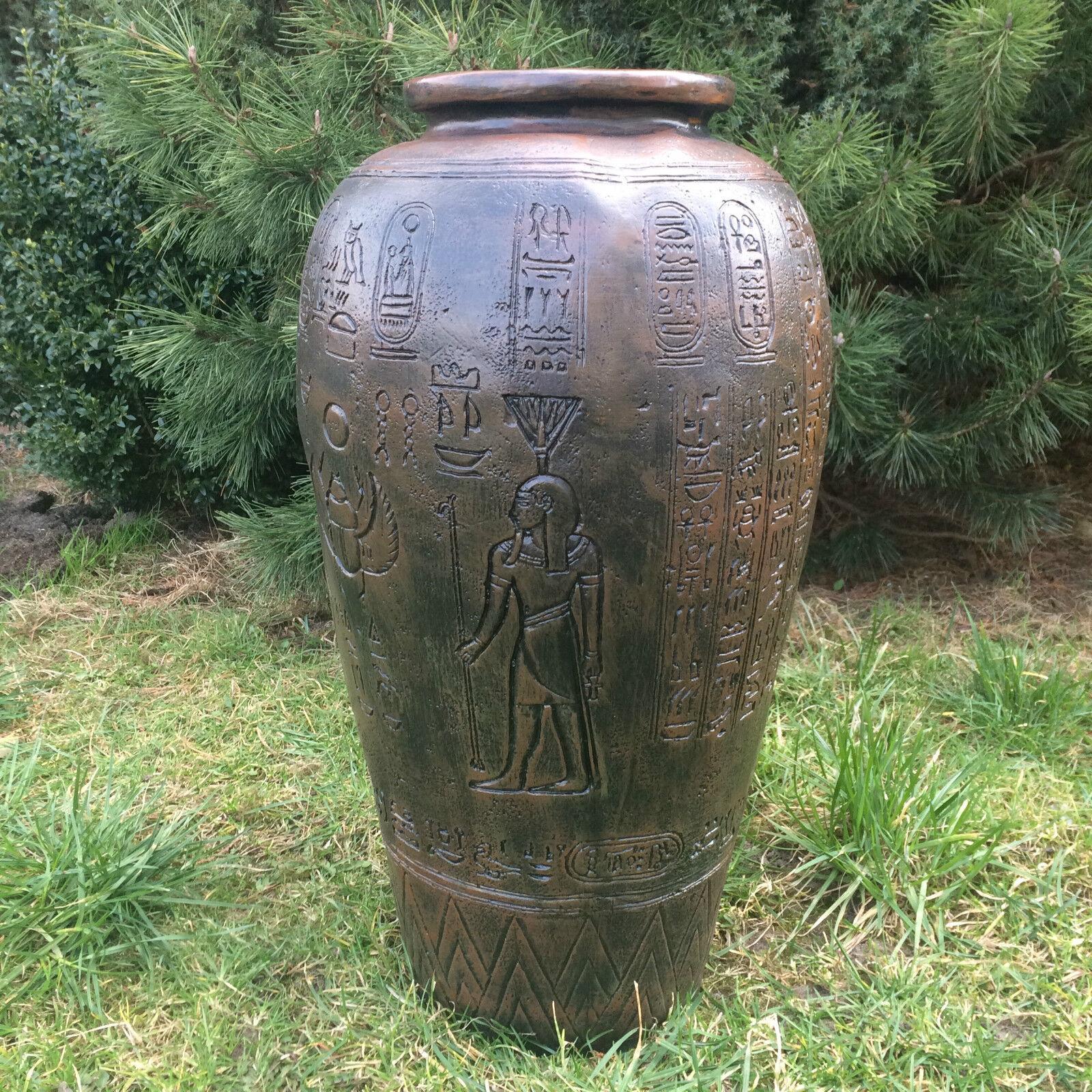 Ägyptische Vase Bodenvase  64 cm groß, Dekofigur, DEKO