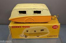 "DINKY TOYS MODEL No.190 STREAM-LINE CARAVAN  ""ORANGE VERSION""   VN MIB"
