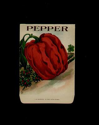 1910's RED PEPPER ANTIQUE LITHO SEED PACKET ~L@@K~ MUST SEE-WOW!!!