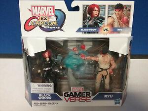 Marvel vs Capcom Gameverse Infinite Black Widow Ryu 2 Pack NEW FREE SHIP US