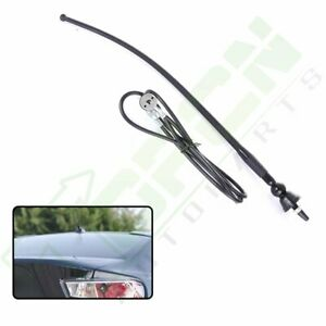"""Flexible Rubber 16"""" Car Radio AM-FM Antenna with 4FT Extension Cable Universal"""