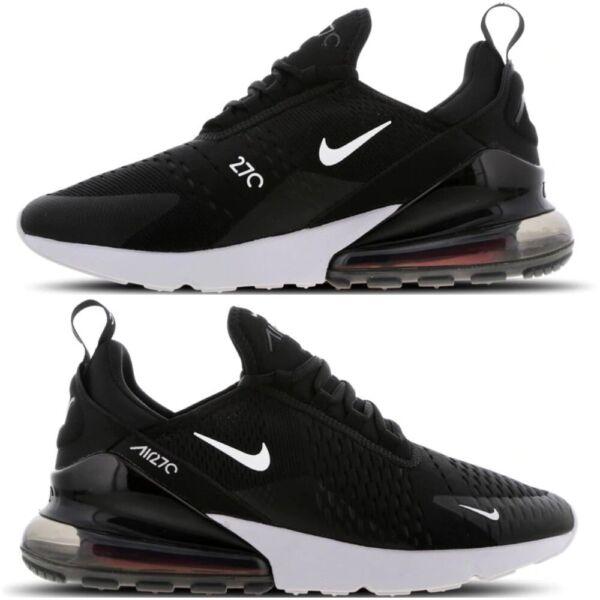 "2019 úLtimo DiseñO Nike Max 270 Para Hombre Zapatillas ""air-antracita Negro-blanco"" Informal Zapatos Todas Las Tallas-ite-white"" Casual Shoes All Sizes Ver"