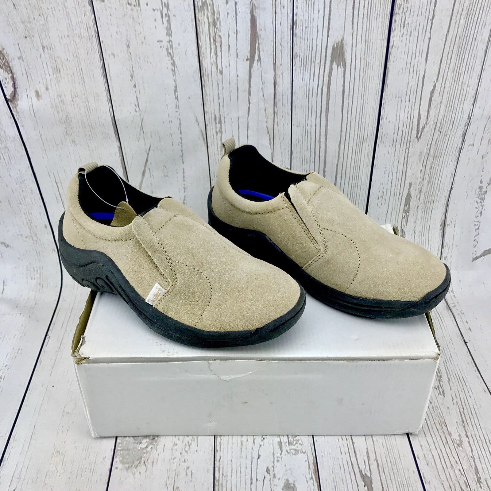 Ladies Dr Keller Suede Leather Beige Slip On shoes Trainers UK 3 BRAND NEW BOXED