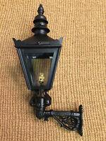 Klein Viktorianischer Stil Schwarze Optik Wand Laterne Gusseisen Halter