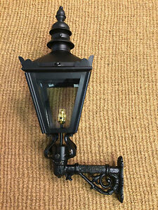 Attractive Image Is Loading Small Black Wall Lantern Cast Iron Bracket Wall