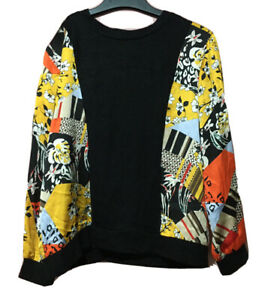 Mix Print Floral Silk Pullover