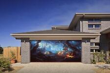 HALLOWEEN SPOOKY PUMPKIN 3D EFFECT GARAGE DOOR BILLBOARD STICKER COVER