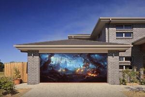 Image Is Loading Y Pumpkin Effect Garage Door Billboard