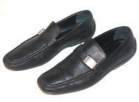 ✨ CALVIN KLEIN (UK SIZE 10) MENS FORMAL SLIP ON SHOES ~ HIGH END BLACK LEATHER