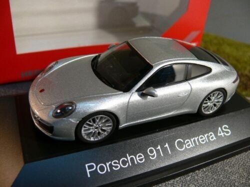 1//43 Herpa Porsche 911 Carrera 4S Coupé rhodiumsilbermetallic SONDERPREIS 29,99