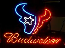 "New Houston Texans NFL Football Budweiser Beer Neon Sign 17""x14"""