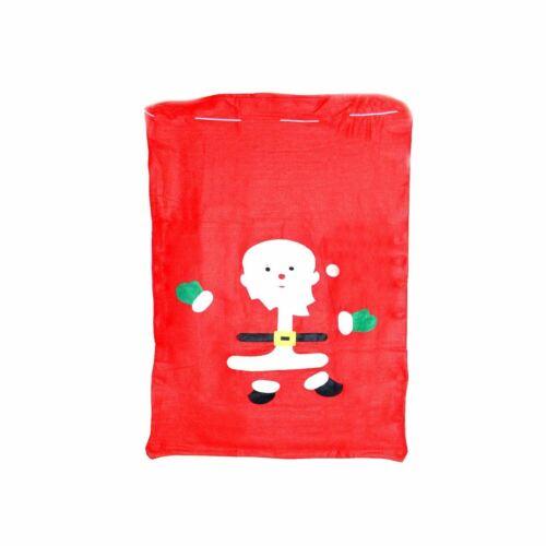 1 Giant Red Velvet Father Christmas Santa Sacks Xmas Present Gifts Bags 50x60cm