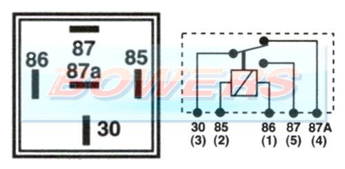 LUCAS SRB501 12V 28RA 20//30 AMP 5 PIN MINI CHANGE OVER RELAY AS DURITE 0-728-12