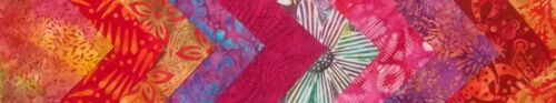 "10 strips 2.5/"" x 44/"" Tutti Fruitti Batiks Fabric Jelly Roll Strips"