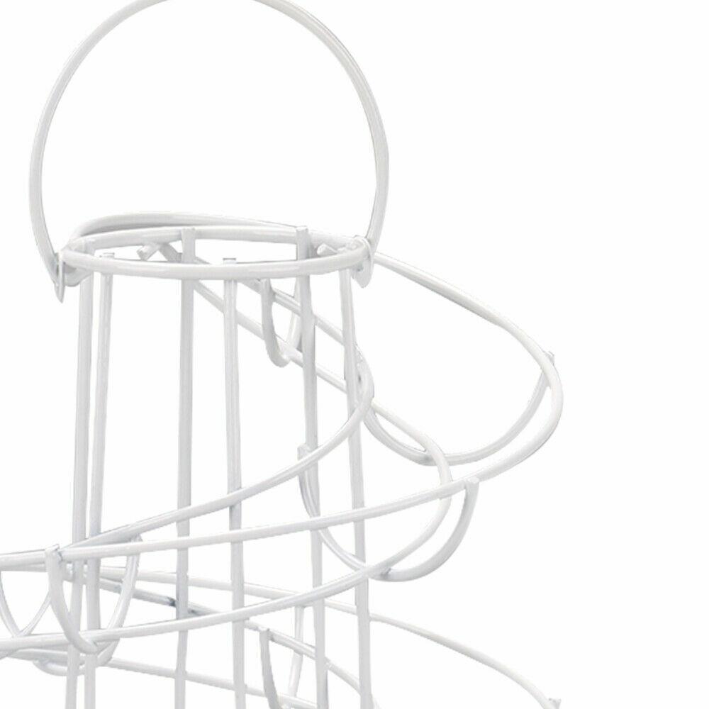 /® Nero Storage Cucina Spirale Helter Skelter Egg Supporto Del Basamento Della Cremagliera Pu/ò Contenere Fino a 18 Uova