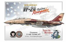 "F-14B ""TOMCAT"" US Navy - VF-24 Fighting Renegades - Airplane Profile"