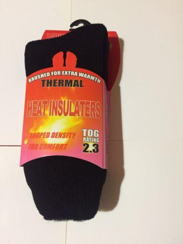 LADIES THERMAL SOCKS WARM HEAT INSULATORS BLACK PINK PURPLE RED  WALKING WINTER