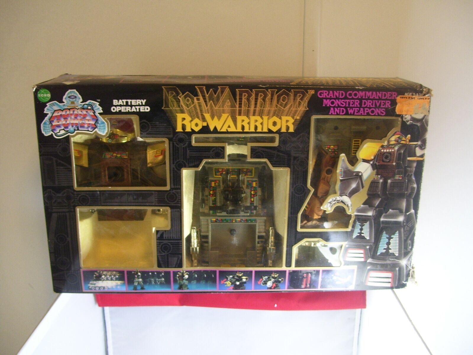 Vintage  Echo Toys Ro-Warrior Grand Commander With Weapons & Instructions