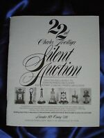 22nd Charles Terwilliger's Silent Auction Catalog - 400 Day / Anniversary Clock