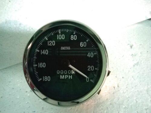 Smiths Replica 100 mm Speedometer 180 MPH Speedometer M18X1.5 Thread anti clock