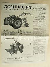 Prospectus  Motoculteur COURMONT  Ligny Cambresis  catalogue brochure  tracteur