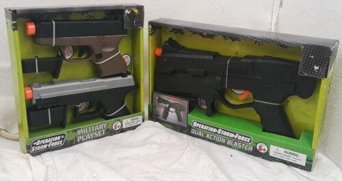 Double action Toy canons militaire Play Sets l/'Opération Tempête force Sons Combo