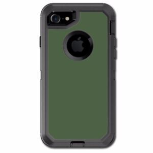 new style 46d13 d0beb Details about Skin Decal for Otterbox Defender iPhone 7 Case / Solid Olive  Green