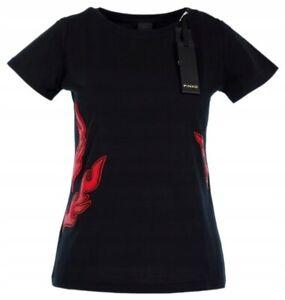 T-Shirt-Maglia-Donna-Maglietta-PINKO-LU214-Maniche-Corte-Nero-Tg-M-L
