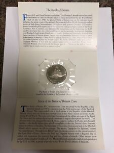 1990-Marshall-Island-The-Heroes-of-the-Battle-of-Britain-5-Silver-Coin