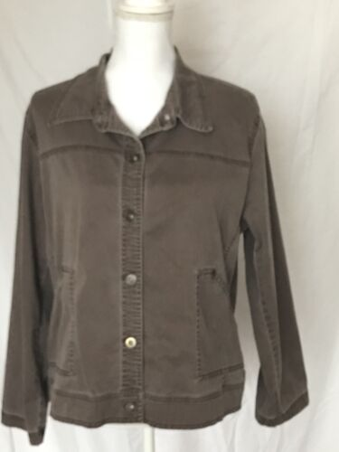 Erica Brown Acid Washed Jean Jacket Size Petite PX