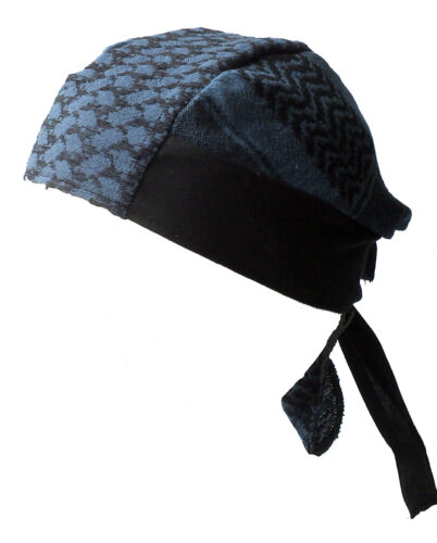 BABY PALI BANDANA Blaugrau-schwarz Kopftuch
