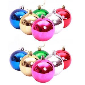 Eg-6-12Pcs-Scintillante-Bagattelle-Palline-Albero-di-Natale-Ornamento-Festa