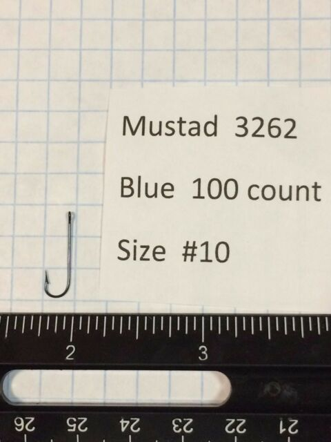 lot of 100 or 1000 MUSTAD 3262 BLUE HOOKS 8 7 1 SIZE #10 5 6 1//0 2 3