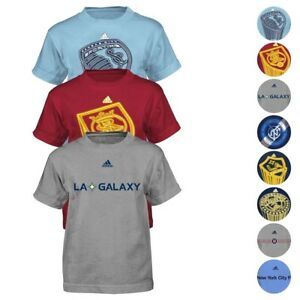 a897cb696b Details about MLS Adidas Short & Long Sleeve Team Graphic T-Shirt  Collection Boys (4-7)