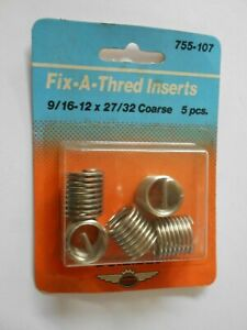 HeliCoil 5//16-18 Thread Repair Inserts R1185-5 Pack of 12 New Heli Coil Set NIP
