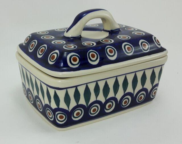 Bunzlauer Keramik Französische-Butterdose für 125g Dekor 54A Handarbeit Neu